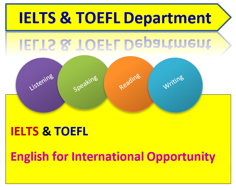 IELTS and TOEFL Department